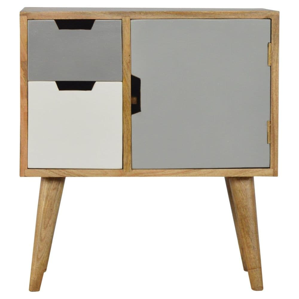 Grey and White Painted Cabinet